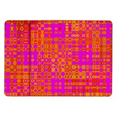 Pink Orange Bright Abstract Samsung Galaxy Tab 10.1  P7500 Flip Case