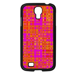 Pink Orange Bright Abstract Samsung Galaxy S4 I9500/ I9505 Case (black)