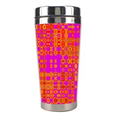 Pink Orange Bright Abstract Stainless Steel Travel Tumblers