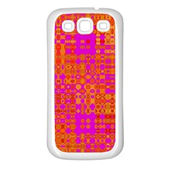 Pink Orange Bright Abstract Samsung Galaxy S3 Back Case (white)