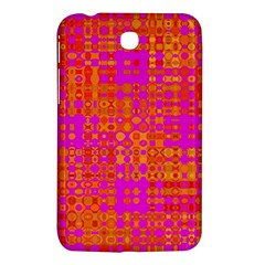 Pink Orange Bright Abstract Samsung Galaxy Tab 3 (7 ) P3200 Hardshell Case