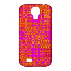 Pink Orange Bright Abstract Samsung Galaxy S4 Classic Hardshell Case (pc+silicone)