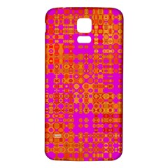 Pink Orange Bright Abstract Samsung Galaxy S5 Back Case (white)