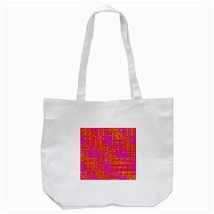 Pink Orange Bright Abstract Tote Bag (White)