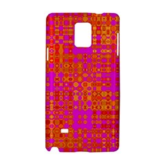 Pink Orange Bright Abstract Samsung Galaxy Note 4 Hardshell Case