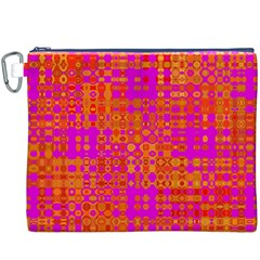 Pink Orange Bright Abstract Canvas Cosmetic Bag (xxxl)