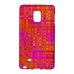 Pink Orange Bright Abstract Galaxy Note Edge