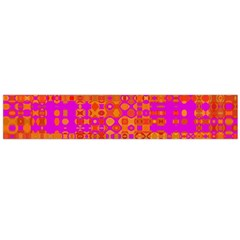 Pink Orange Bright Abstract Flano Scarf (Large)