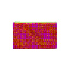 Pink Orange Bright Abstract Cosmetic Bag (XS)