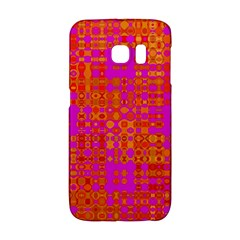 Pink Orange Bright Abstract Galaxy S6 Edge