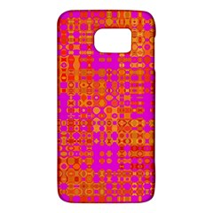 Pink Orange Bright Abstract Galaxy S6