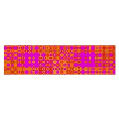 Pink Orange Bright Abstract Satin Scarf (Oblong)