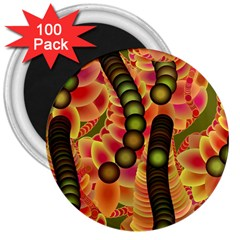 Abstract Background Digital Green 3  Magnets (100 Pack)