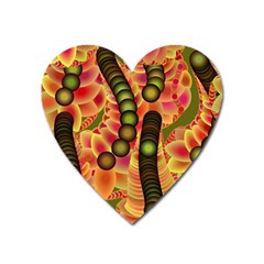 Abstract Background Digital Green Heart Magnet