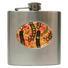 Abstract Background Digital Green Hip Flask (6 oz)