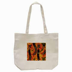 Abstract Background Digital Green Tote Bag (Cream)