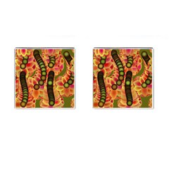 Abstract Background Digital Green Cufflinks (square)