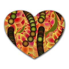 Abstract Background Digital Green Heart Mousepads