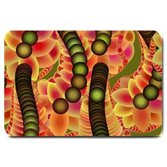 Abstract Background Digital Green Large Doormat