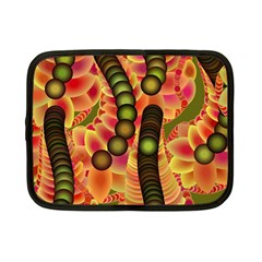 Abstract Background Digital Green Netbook Case (Small)