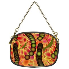 Abstract Background Digital Green Chain Purses (one Side)