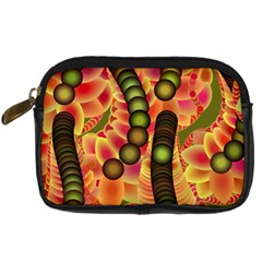 Abstract Background Digital Green Digital Camera Cases