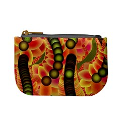 Abstract Background Digital Green Mini Coin Purses