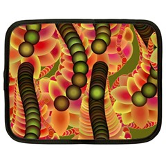 Abstract Background Digital Green Netbook Case (XL)