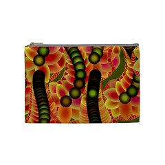 Abstract Background Digital Green Cosmetic Bag (medium)