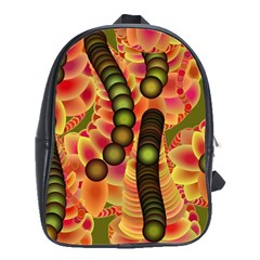 Abstract Background Digital Green School Bags(Large)