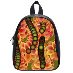 Abstract Background Digital Green School Bags (Small)