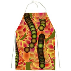 Abstract Background Digital Green Full Print Aprons