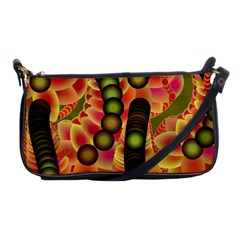 Abstract Background Digital Green Shoulder Clutch Bags