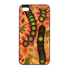 Abstract Background Digital Green Apple Iphone 4/4s Seamless Case (black)