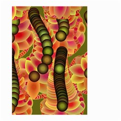 Abstract Background Digital Green Small Garden Flag (two Sides)