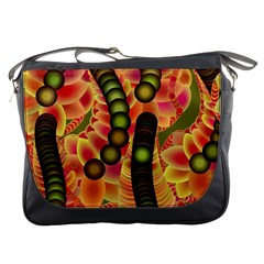 Abstract Background Digital Green Messenger Bags