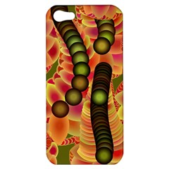 Abstract Background Digital Green Apple iPhone 5 Hardshell Case