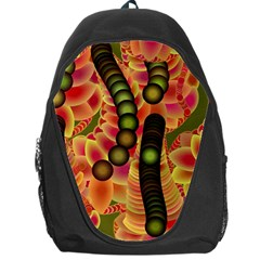 Abstract Background Digital Green Backpack Bag