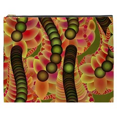 Abstract Background Digital Green Cosmetic Bag (xxxl)