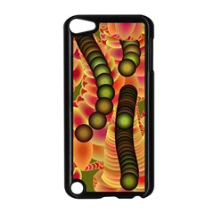 Abstract Background Digital Green Apple iPod Touch 5 Case (Black)