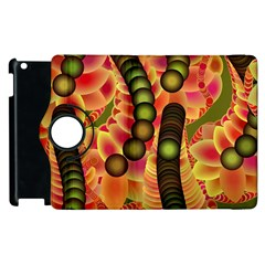 Abstract Background Digital Green Apple Ipad 3/4 Flip 360 Case