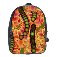 Abstract Background Digital Green School Bags (XL)