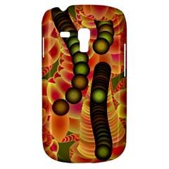 Abstract Background Digital Green Galaxy S3 Mini