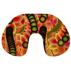 Abstract Background Digital Green Travel Neck Pillows