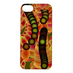Abstract Background Digital Green Apple iPhone 5S/ SE Hardshell Case