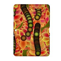 Abstract Background Digital Green Samsung Galaxy Tab 2 (10 1 ) P5100 Hardshell Case
