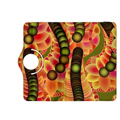 Abstract Background Digital Green Kindle Fire Hdx 8 9  Flip 360 Case