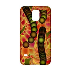 Abstract Background Digital Green Samsung Galaxy S5 Hardshell Case