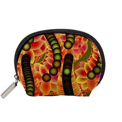 Abstract Background Digital Green Accessory Pouches (small)