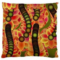 Abstract Background Digital Green Large Flano Cushion Case (Two Sides)